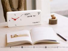 韩国 THEHAKI 陶瓷留言备忘钟 Memo Clock 创意小台钟